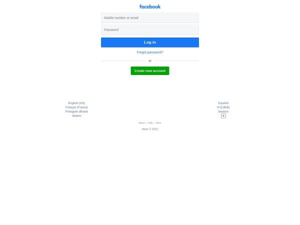 Screenshot of m.facebook.com