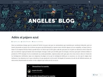 Screenshot de Angeles' blog