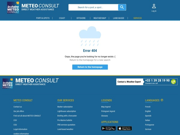 Screenshot of marine.meteoconsult.co.uk