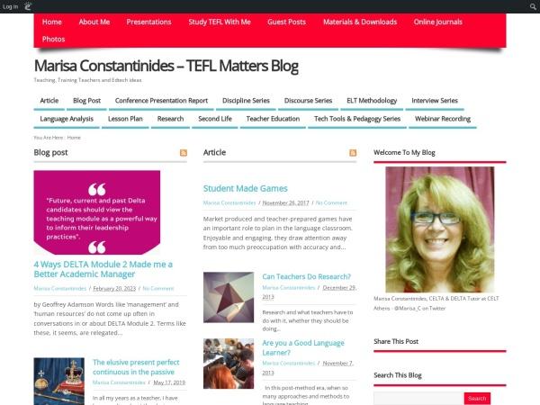 Screenshot of marisaconstantinides.edublogs.org
