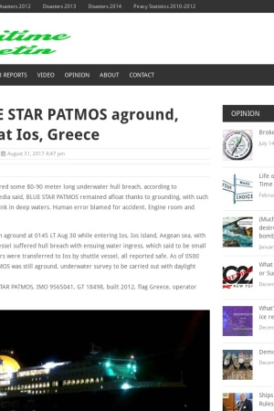 http://maritimebulletin.net/2017/08/30/ferry-blue-star-patmos-aground-breached-at-ios-greece/