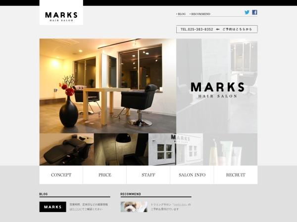 Screenshot of marks-hair.com