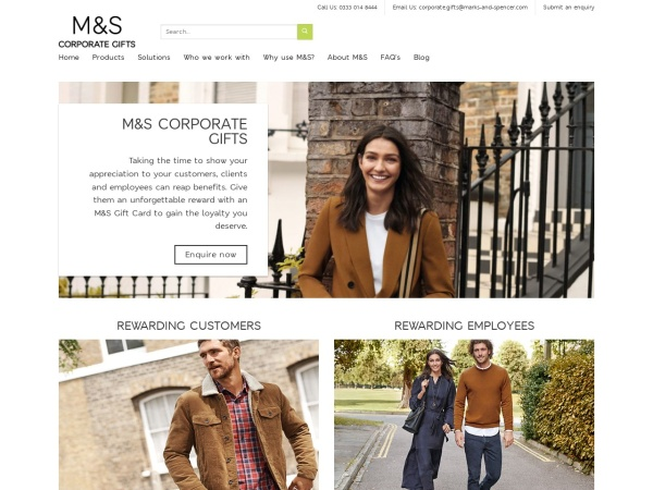Screenshot of marksandspencerforbusiness.com