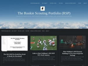 The Rookie Scouting Portfolio using the Traveler WordPress Theme