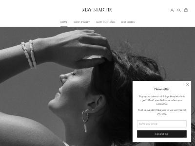 Screenshot of may-martin.com