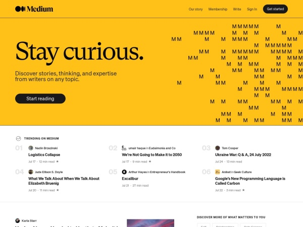 Screenshot von medium.com