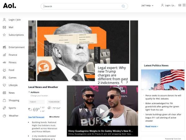 Screenshot of members.aol.com