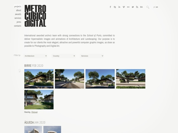 Screenshot of metrocubicodigital.com