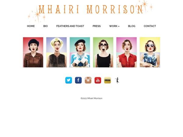 Screenshot of mhairimorrison.com