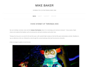 Mike Baker | Photography using the Goodz Magazine WordPress Theme