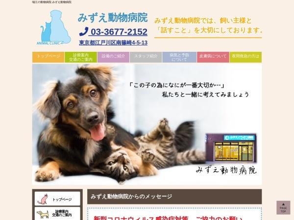 Screenshot of mizue-vet.com