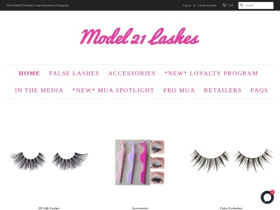 Screenshot of model21lashes.ca