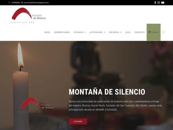 Captura de pantalla de montanadesilencio.org