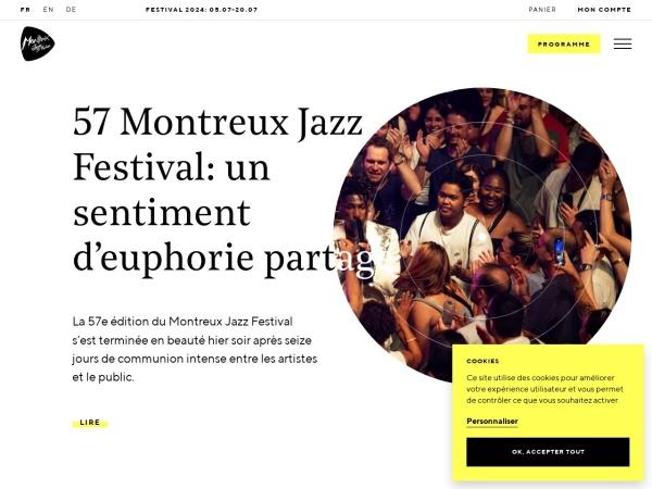 Screenshot von montreuxjazzfestival.com