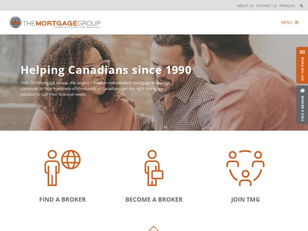 Screenshot of mortgagegroup.com