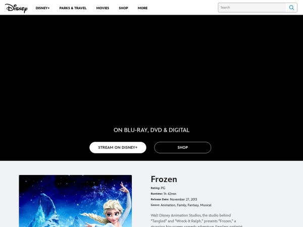 http://movies.disney.com/frozen/