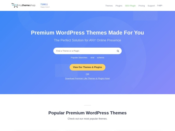 MyThemeShop homepage