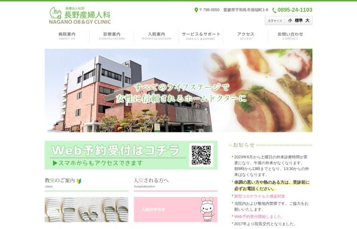 Screenshot of nagano-ladies.jp