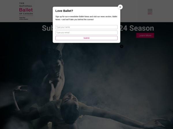 Screenshot of national.ballet.ca