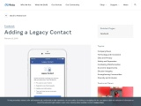Adding a Legacy Contact