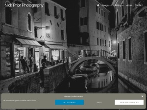 Screenshot of Nick Prior Photography website website