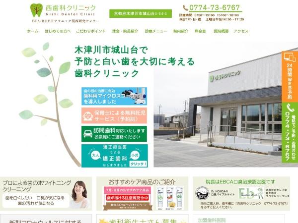 Screenshot of nishi-dc.net