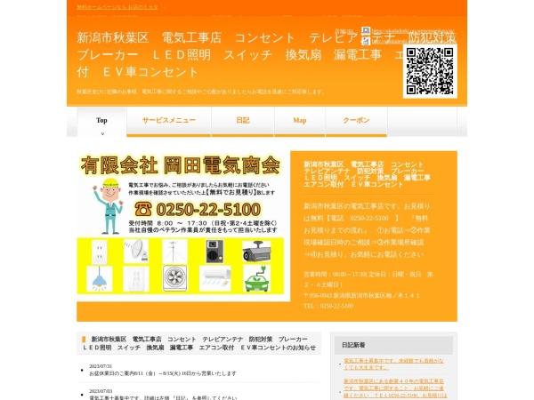 Screenshot of okadadenki.on.omisenomikata.jp