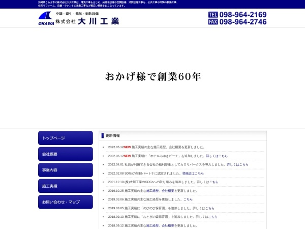 Screenshot of okawa-d.com