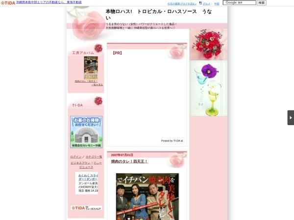 Screenshot of okinawasauceunai.ti-da.net