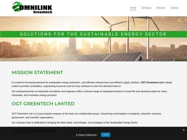 Screenshot of omnilinkgreentech.com