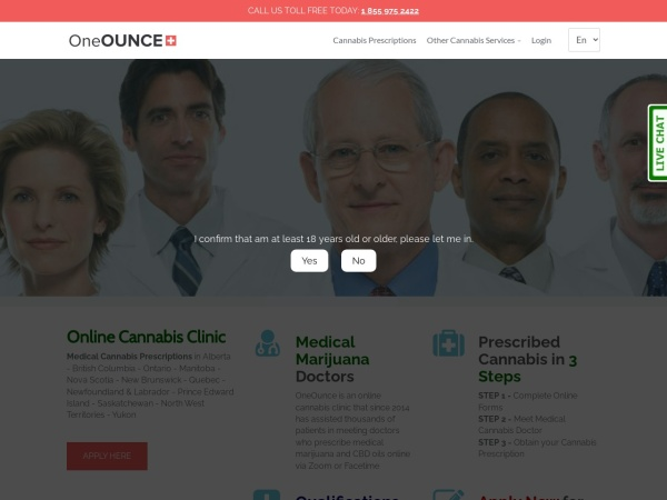 Screenshot of oneounce.com
