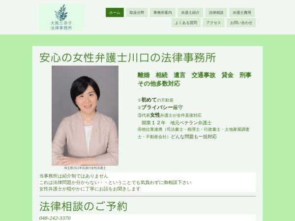 Screenshot of ookuma-minako-law.jimdo.com