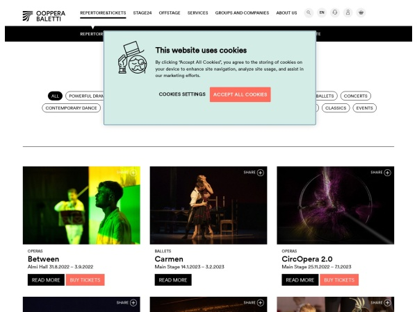Screenshot of oopperabaletti.fi