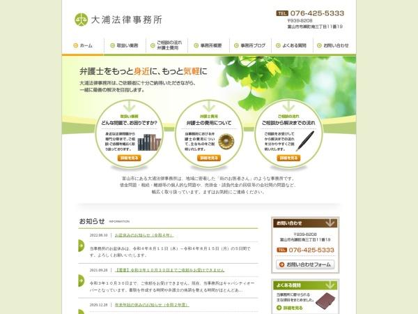 Screenshot of ooura-law.com