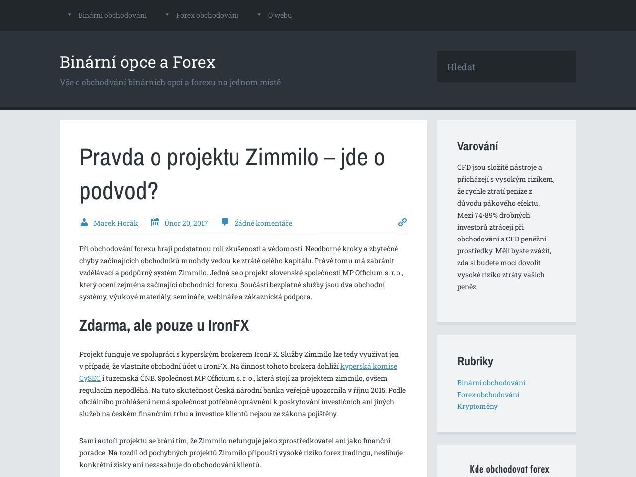 Pravda o projektu Zimmilo – jde o podvod? (Zdroj: Wordpress.com)