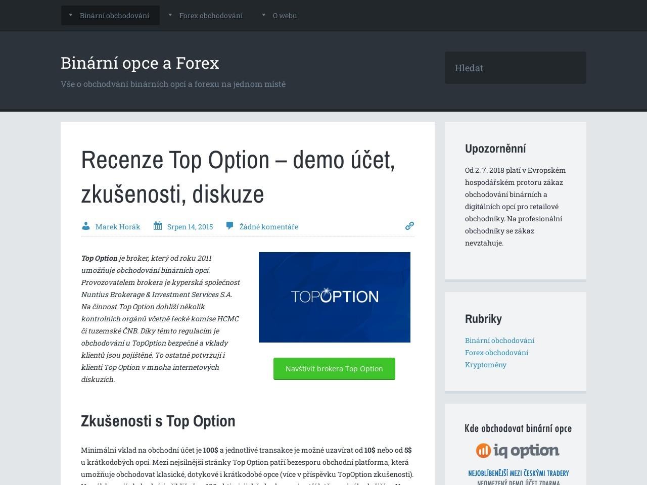 Recenze Top Option – demo účet, zkušenosti, diskuze (Zdroj: Wordpress.com)