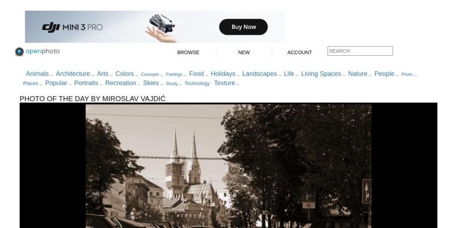 Screenshot of openphoto.net