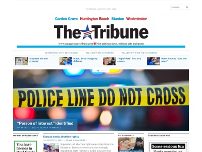 Orange County Tribune Screenshot
