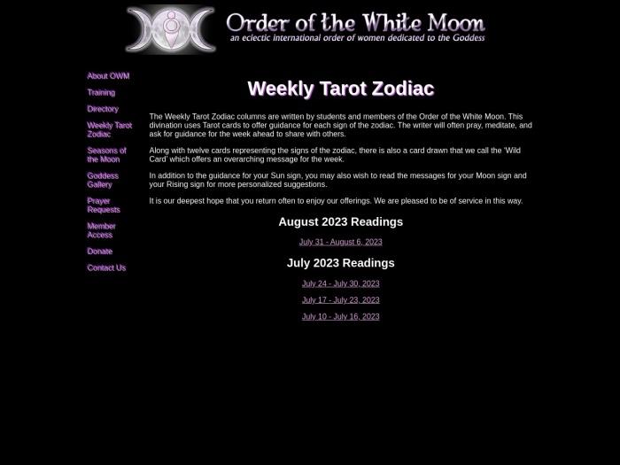 http://orderwhitemoon.org/zodiac/index.html
