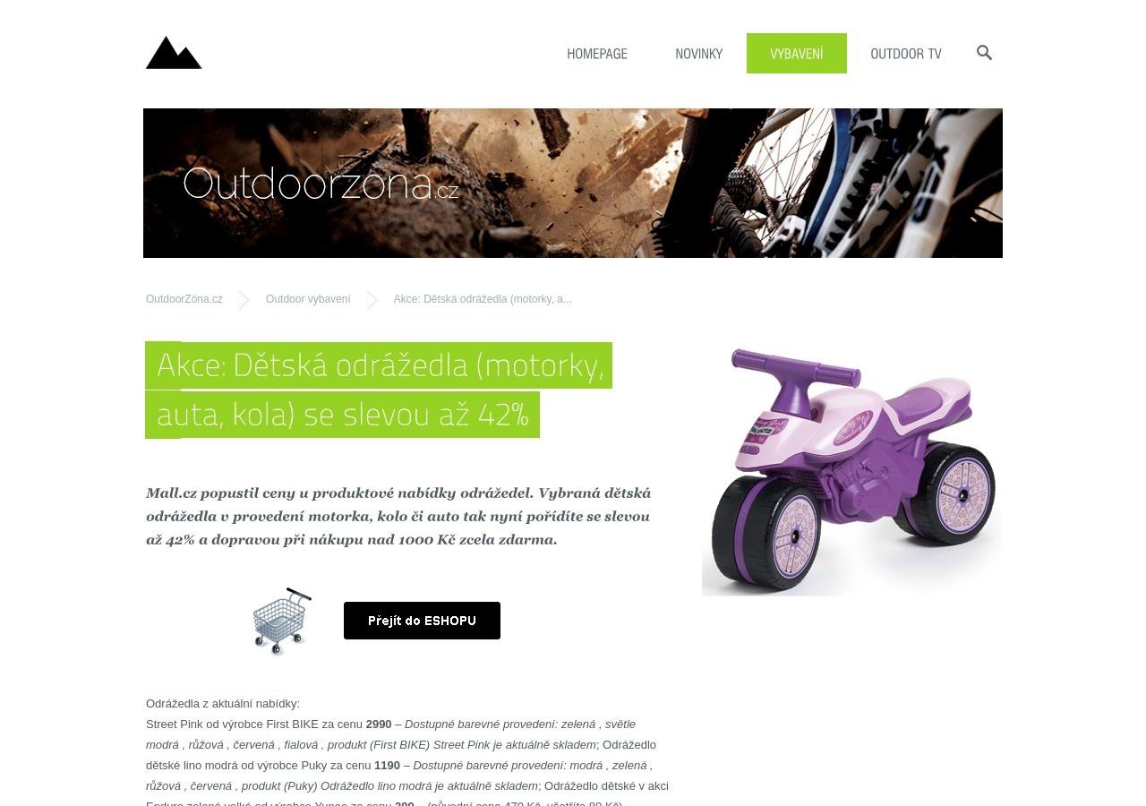 Akce: Dětská odrážedla (motorky, auta, kola) se slevou až 42% (Zdroj: Wordpress.com)