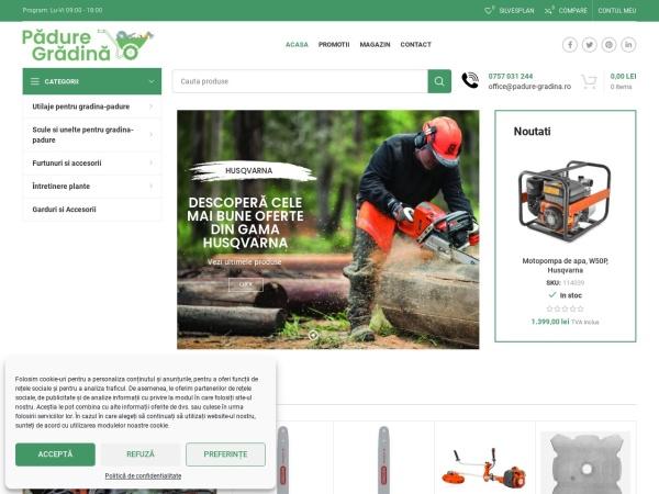 Screenshot of padure-gradina.ro