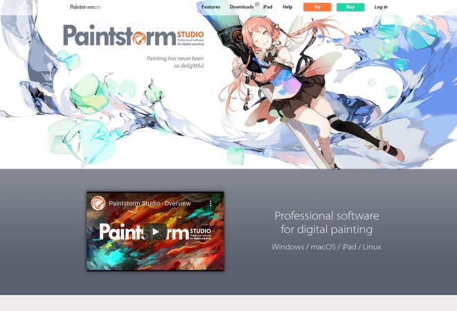 Screenshot of paintstormstudio.com