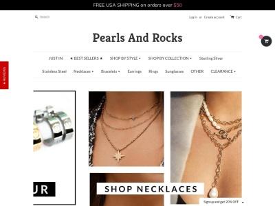 Screenshot of pearlsandrocks.com
