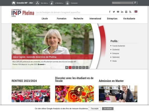 Screenshot of phelma.grenoble-inp.fr