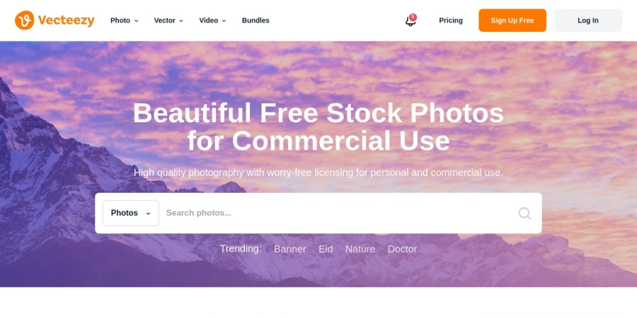 Screenshot of photopin.com