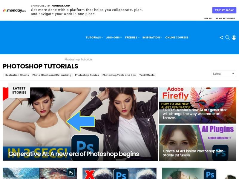 Screenshot of photoshoproadmap.com