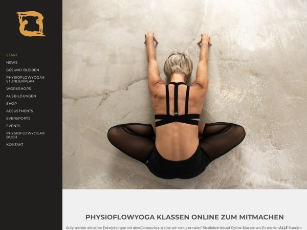 Screenshot von physioflowyoga.de
