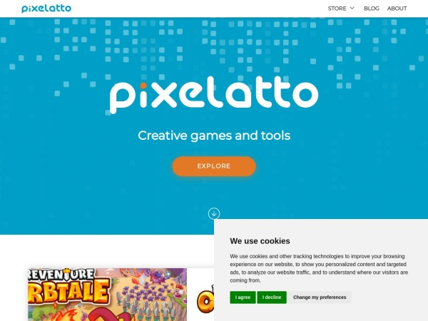 Screenshot of pixelatto.com