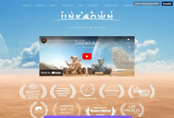 Screenshot of planetunknownfilm.com