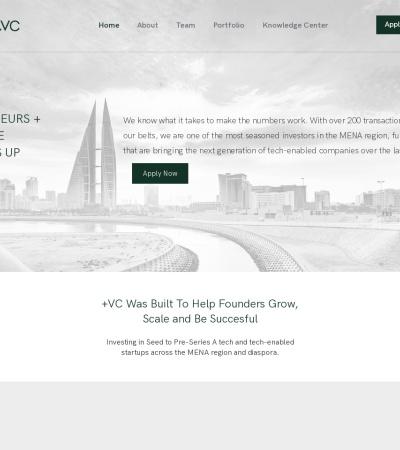 Screenshot of plus.vc